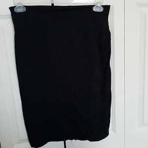 Black High waisted fitted  skirt